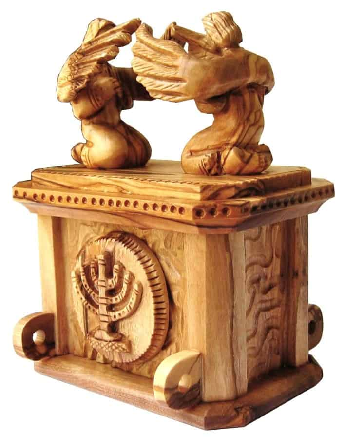 The Ark Of The Covenant Scene Hand Made From Olive Wood